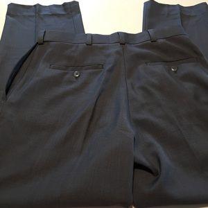 Haggar Front Pleat Dress Pants 32 Waist Grey Men's